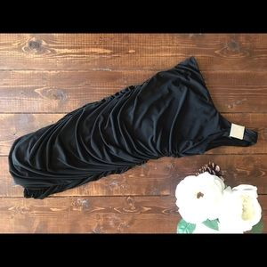 Sweet Storm Black Rouched Dress, Size Small